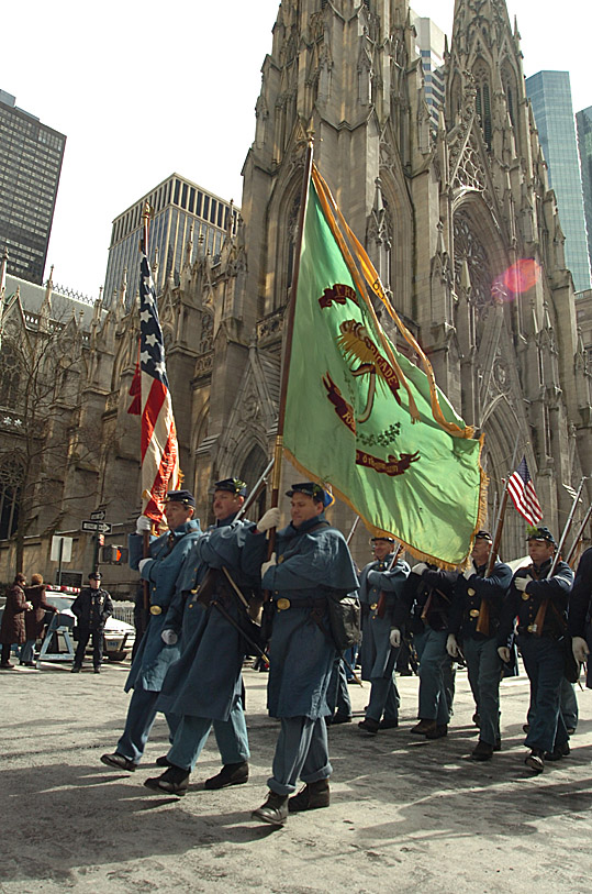 Marching Past St Patrick's Cathedral