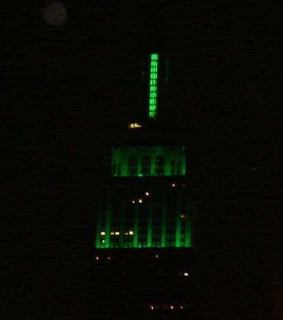 The Empire State Building in Ireland's Green