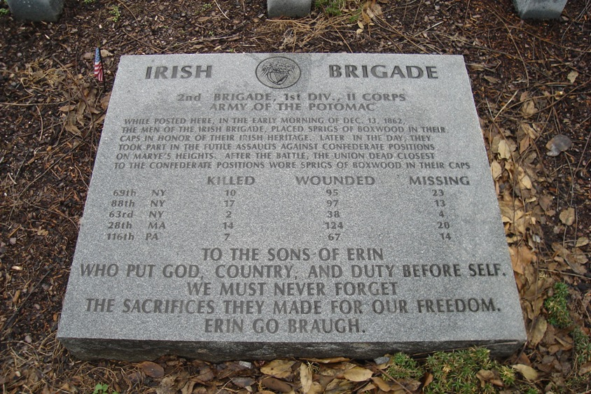 The Irish Brigade Monument in Fredericksburg