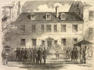 69th NYSM occupying Georgetown - 1861